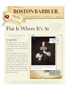 Page From ARTK12 Curriculum. Boston Babbler. Flat is Where It's At.