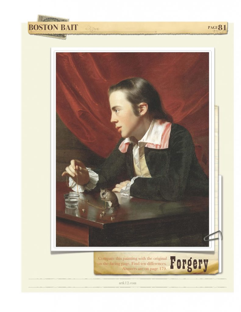 Forgery game from American Art Vol. II: the forgery