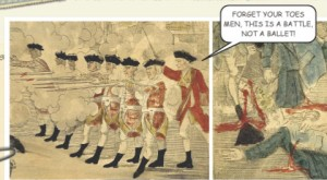 "From American Art History, Volume II, a general says, ""Forget your toes men, this a battle, not ballet."""