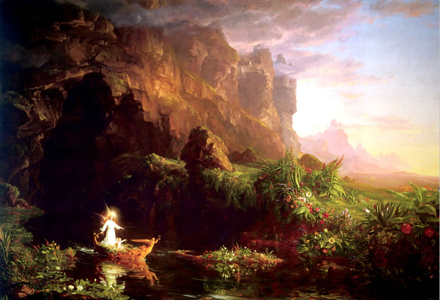 The Voyage of Life: Childhood by Thomas Cole