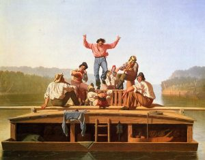 George Caleb Bingham The Jolly Flatboatmen