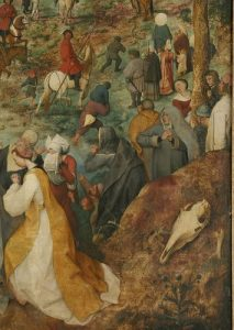 The Procession to Calvary by Pieter Bruegel, Detail Thirteen
