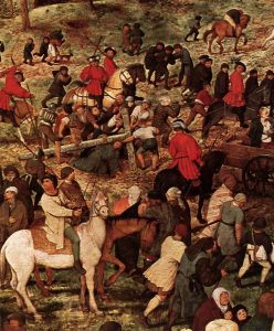The Procession to Calvary by Pieter Bruegel, Detail Seven
