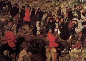 The Procession to Calvary by Pieter Bruegel, Detail Six