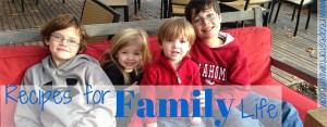Recipes for Family Living: four very cute children