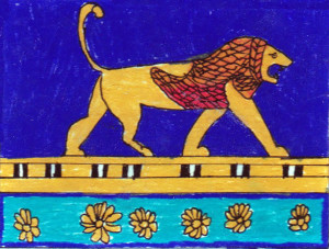 Ishtar Gate detail by Colin, age 12