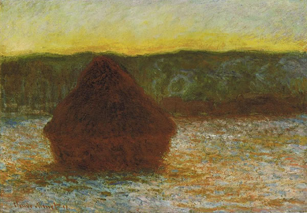 Wheatstack (Thaw, Sunset) 1891. Oil on canvas. The Art Institute of Chicago, Chicago, Illinois.