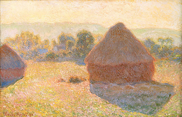 Haystacks, (Midday) 1890-91. Oil on canvas, 65.6 x 100.6 cm. National Gallery of Australia, Parkes, Australian Capital Territory, Australia.