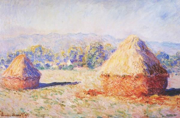 Grainstacks in the Sunlight, Morning Effect 1890. Oil on canvas. Private collection.
