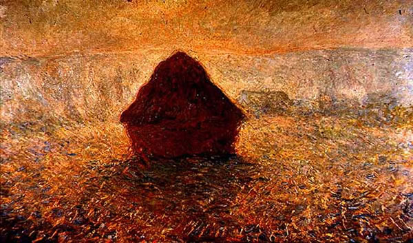 Haystacks on a Foggy Morning 1891. Oil on canvas.