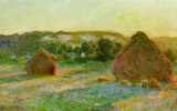 Stacks of Wheat, (End of Summer) 1890-91. Oil on canvas, 60 cm x 100 cm. Art Institute of Chicago, Chicago, Illinois.