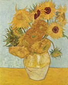 Sunflowers third version: blue green background, Oil on canvas, 91 × 72cm Neue Pinakothek, Munich, Germany