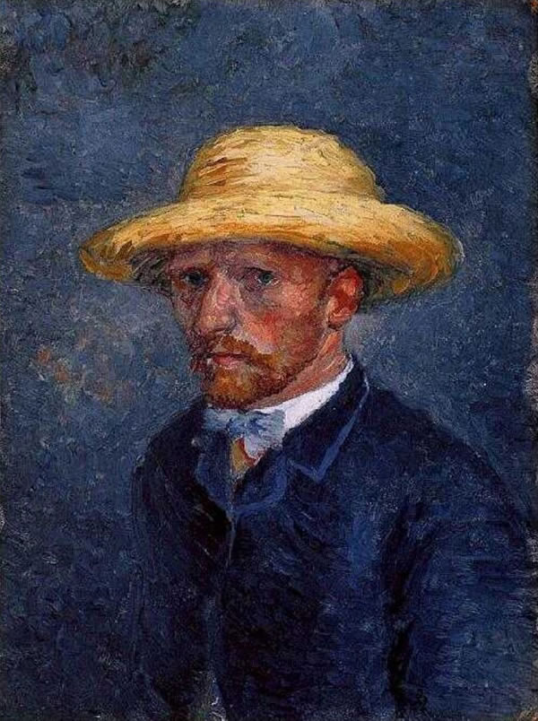 Portrait of Theo March or April 1887, (once considered Self-Portrait with Straw Hat), re-attributed in 2011 by the Van Gogh Museum, Amsterdam