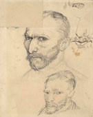 Self-Portraits, Paris, Autumn 1886, pencil on paper, 31.5 x 24.5cm, Van Gogh Museum, Amsterdam 14