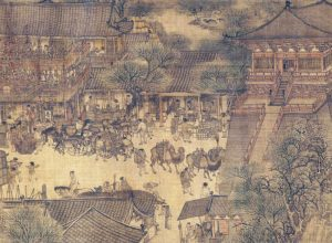 Along the River During the Qingming Festival Detail