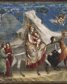 Flight into Egypt, 1304 - 1306, Fresco, 200 cm (78.7 in) x 185 cm (72.8 in)