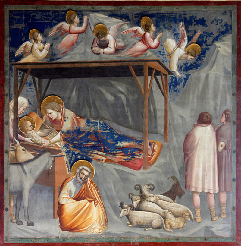 Nativity: Birth of Jesus1304 - 1306Fresco200 cm (78.7 in) x 185 cm (72.8 in)