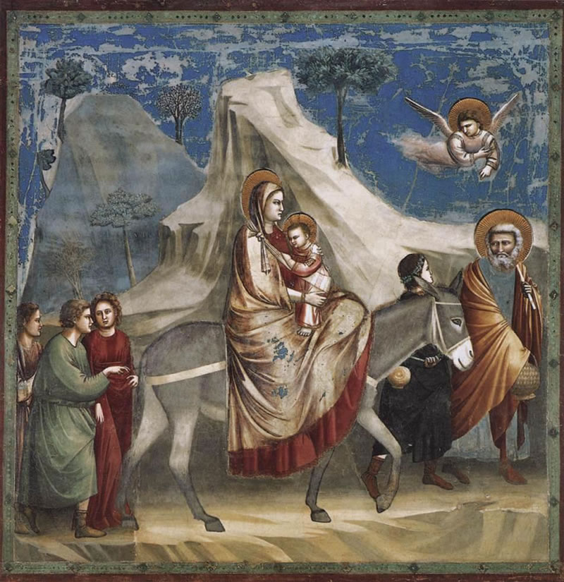Flight into Egypt1304 - 1306Fresco200 cm (78.7 in) x 185 cm (72.8 in)