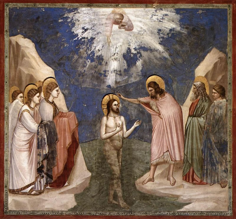 Baptism of Christ1304 - 1306Fresco200 cm (78.7 in) x 185 cm (72.8 in)
