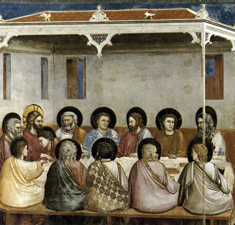 Last Supper1304 - 1306Fresco200 cm (78.7 in) x 185 cm (72.8 in)