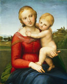 The Small Cowper Madonna, Raphael (1483–1520), oil on panel, 595 mm (23.43 in) x 440 mm (17.32 in), 1505