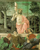 The Resurrection of Jesus Christ, Piero della Francesca (1420–1492), Mural in fresco and tempera, 225 × 200 cm (88.6 × 78.7 in), 1463