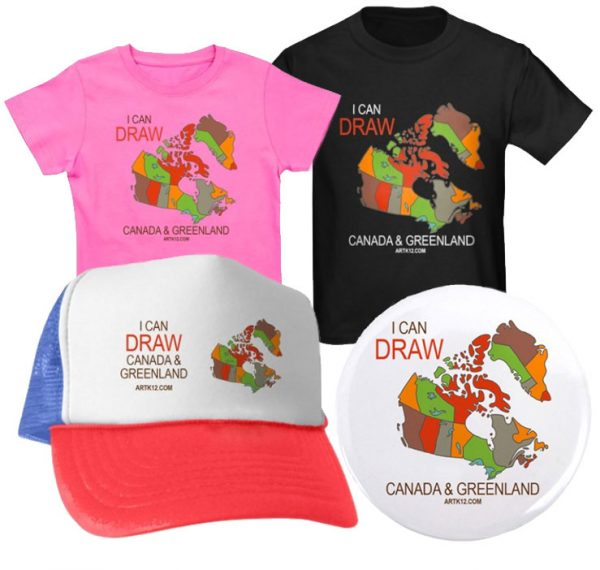 I Can Draw Canada & Greenland: Shirts, Hats & Buttons