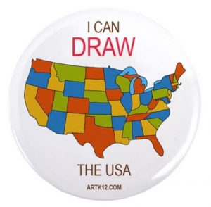 I Can Draw the USA Button