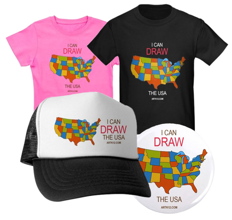I Can Draw the USA: Shirts, Hats & Buttons