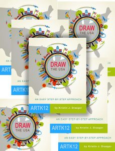 Multiple copies of Draw the USA by Kristin J. Draeger