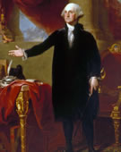 Gilbert Stuart, 1775-1828, George Washington, (The Lansdowne Portrait), 1796, Oil on canvas, 96 x 60 in.