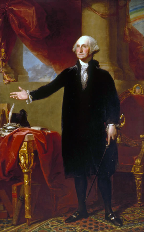 Gilbert Stuart1775-1828George Washington(The Lansdowne Portrait)1796Oil on canvas96 x 60 in.