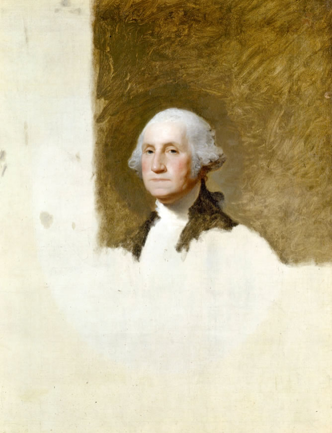 Gilbert Stuart1775-1828George Washington(The Athenaeum Portrait)1796Oil on canvas39.8 × 34.6 in.