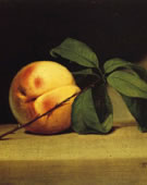 Raphaelle Peale, 1774-1825, Still Life with Peach, 1816, Oil on canvas, 7.36 x 8.42 in.