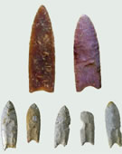 Clovis Culture, Clovis Spear Points, 10,000 B.C., Fluted stone