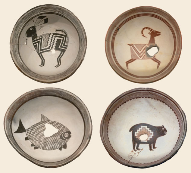 Mimbres People from the Mogollon CultureMimbres Bowls1000-1150Ceramic, Ceramic
