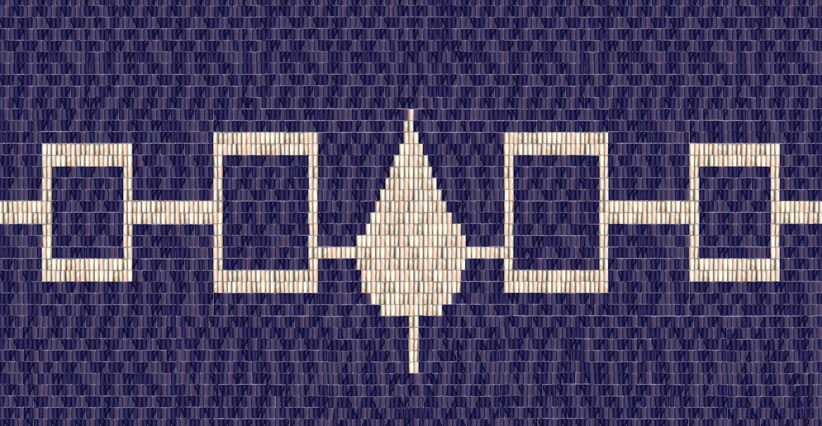 Iroquois CultureHiawatha Wampum BeltOriginal made of shell and sinew