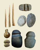 Prehistoric cultures of the Southwest and California, Stone, Bone and Pottery Tools, 600-1200, Stone, bone, pottery, and pumice