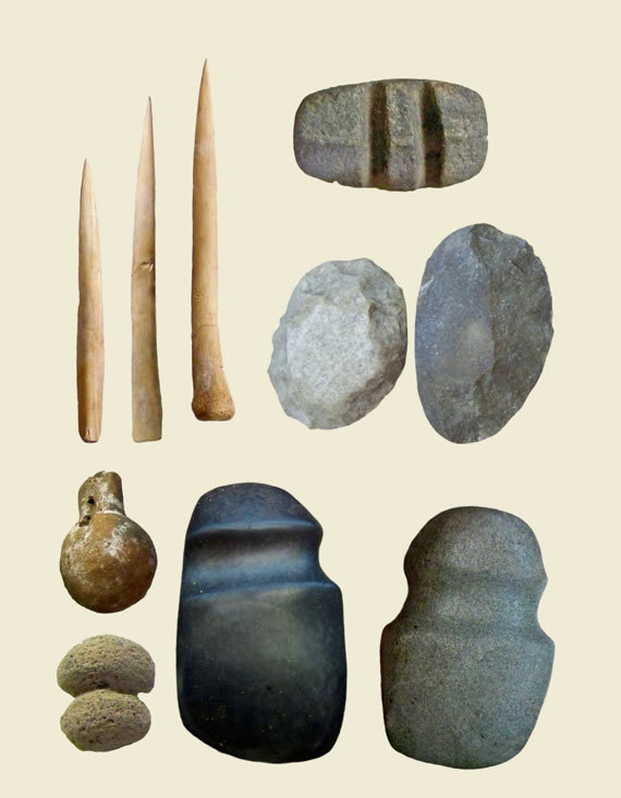 Prehistoric cultures of the Southwest and CaliforniaStone, Bone and Pottery Tools600-1200Stone, bone, pottery, and pumice