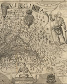 John Smith, Virginia, Discovered and Discribed, by Captayn John Smith (sixth state) London: William Hole, 1624, Engraved map, 32 1/4 x 46 1/4