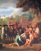 Benjamin West, 1738-1820, William Penn's Treaty with the Indians, 1771, Oil on canvas, 74.8 x 107.9 in.