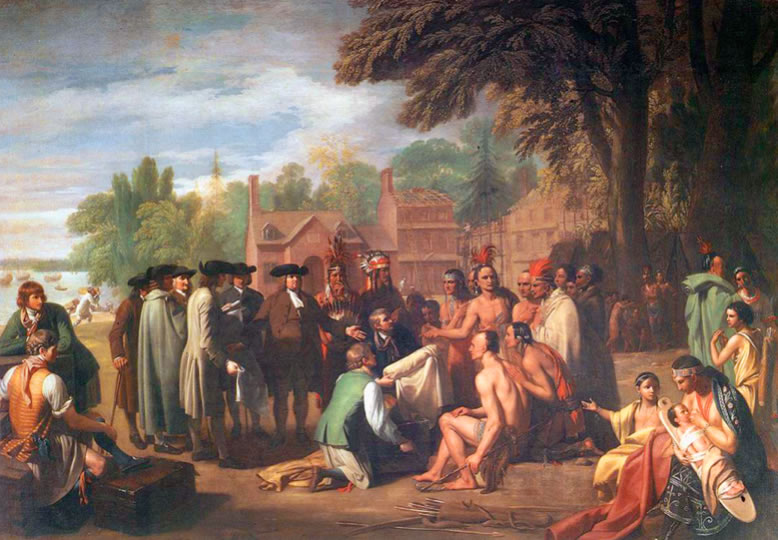 Benjamin West1738-1820William Penn's Treaty with the Indians1771Oil on canvas74.8 x 107.9 in.