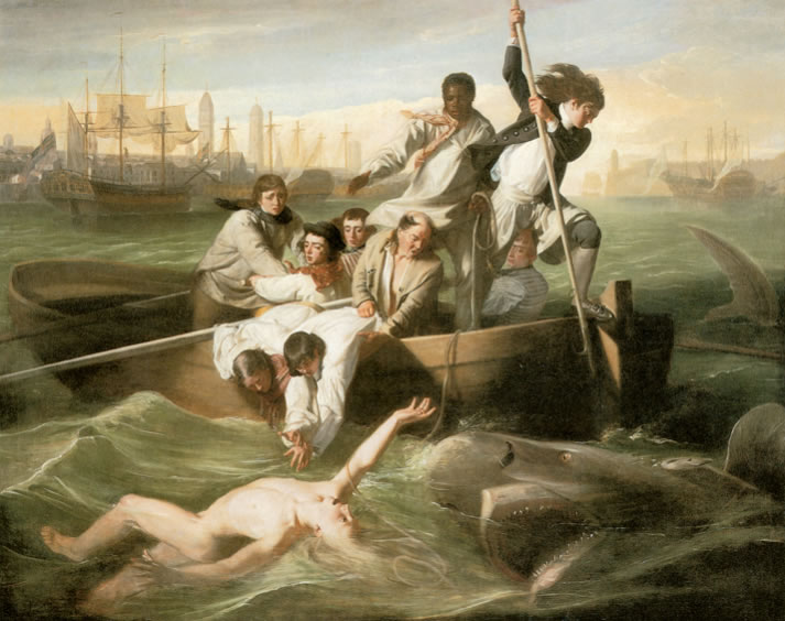 John Singleton Copley1738-1815Watson and the Shark1778Oil on canvas72 x 90.25 in.