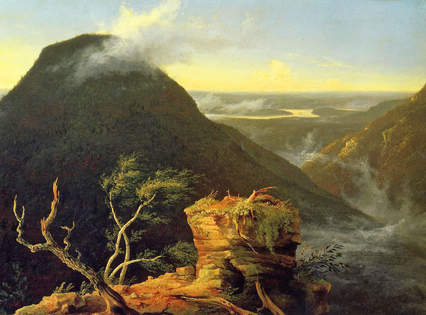 Thomas Cole  Sunny Morning on the Hudson River  1827  Oil on panel  64.45 x 47.31 cm.