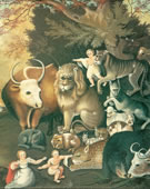 Edward Hicks, Peaceable Kingdom, 1834, Oil on canvas, 29 5/16 x 35 1/2 in.