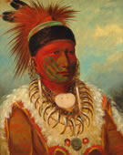 George Catlin, The White Cloud, Head Chief of the Iowas, 1844-45, Oil on canvas, 28 x 22 7/8 in.