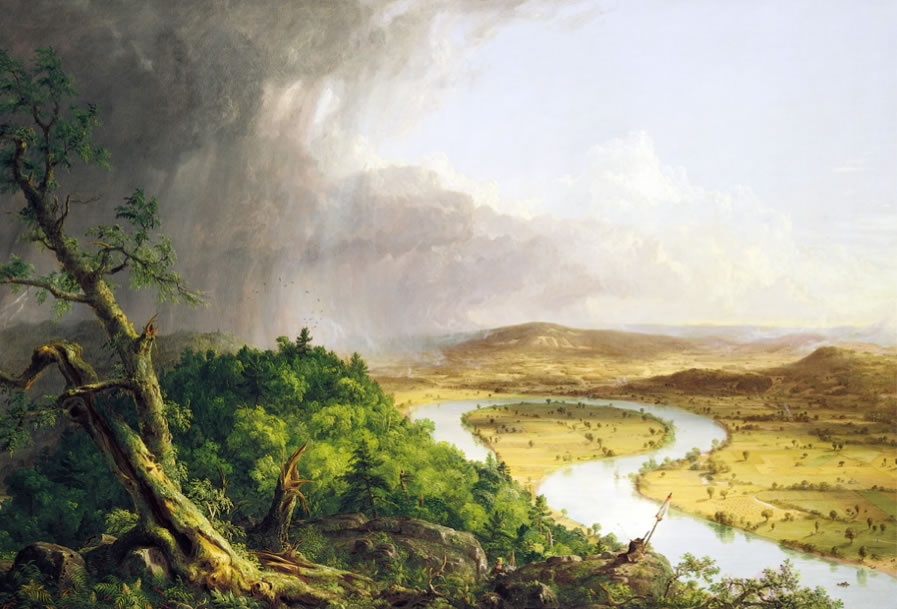 Thomas Cole The Oxbow (The Connecticut River Near Northampton) 1836 Oil on canvas 193 x 130.8 cm.