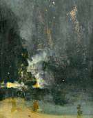 James Abbott McNeill Whistler, 1830-1902, Nocturne in Black and Gold: , The Falling Rocket, 1872-77, Oil on canvas, 23.7 x 18.3 in.
