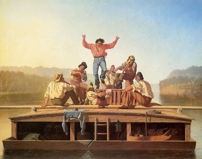 George Caleb BinghamThe Jolly Flatboatmen1846Oil on canvas38.13 x 48.5 in.
