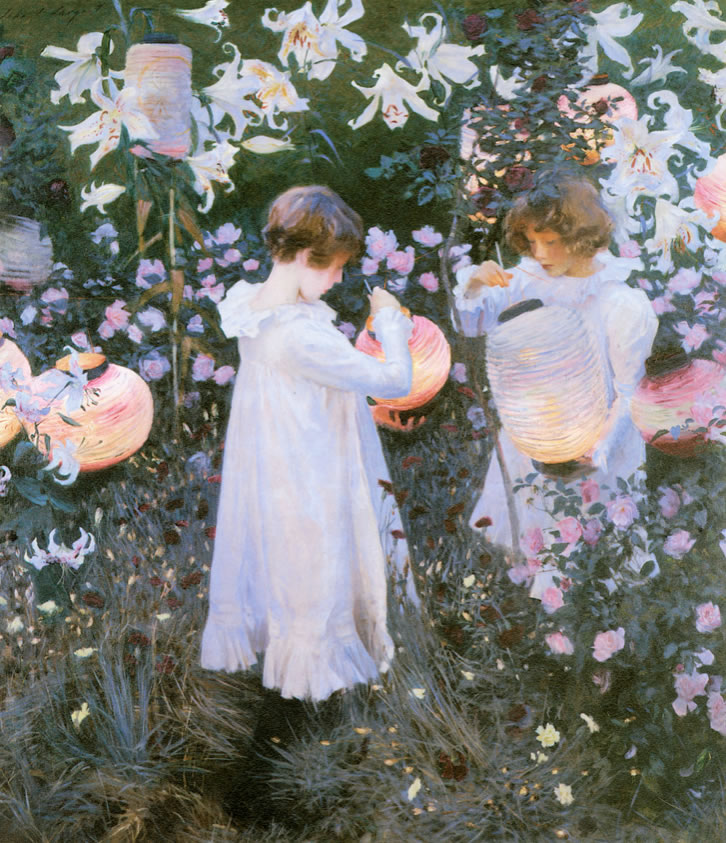 John Singer Sargent1856-1925Carnation, Lily, Lily, Rose1885-86Oil on canvas68 1/2 x 60 1/2 in.